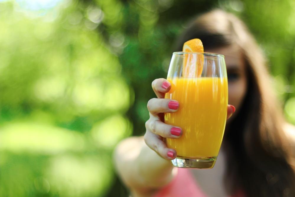 girl-morning-breakfast-orange-juice