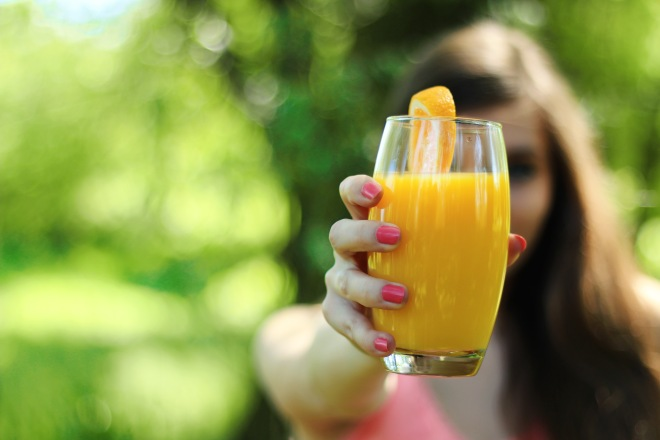 girl-morning-breakfast-orange-juice